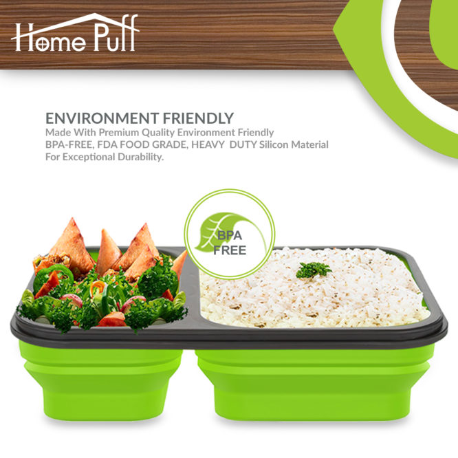 Home Puff Lunch Box (1200 ml)
