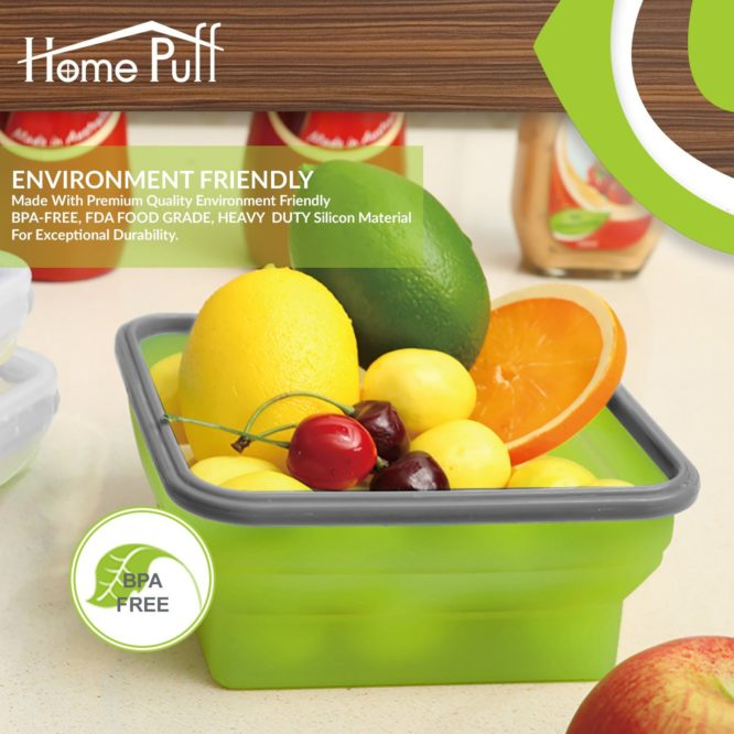 HomePuff Collapsible Dry Snack Lunch Box
