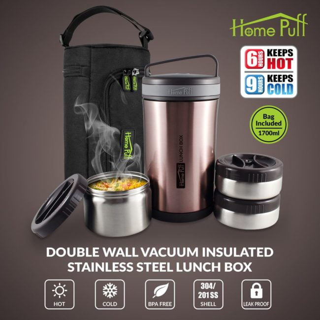 HomePuff Vaccum Insulated Lunch Box