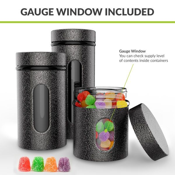 HomePuff Glass Canister Gauge Window
