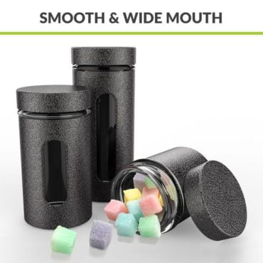 HomePuff Airtight Glass Canisters in Metal Overlay (350ML-550ML-800ML)