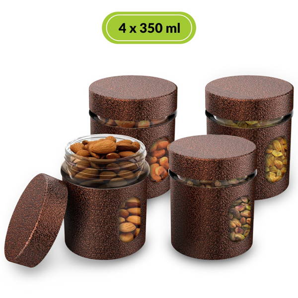 HomePuff Airtight Glass Canisters 350ML