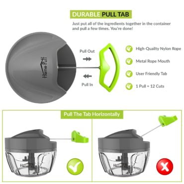 Homepuff Vegetable Cutter with Lid