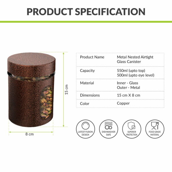 metal overlay canister